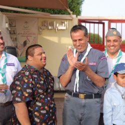 فريق كشافة يقومون بمعايدة نزلاء مركز التأهيل الشامل بمحافظة شقراء بمناسبة عيد الفطر