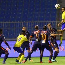 النصر يتعادل مع ضيفه الفيحاء بهدفين لمثلها على المباراة التي أقيمت مساء اليوم الجمعة