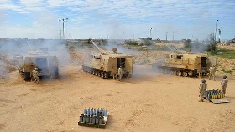 المدفعية المصرية تضرب الإرهاب فى سيناء