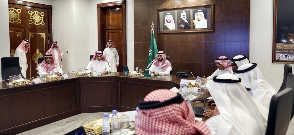 اجتماع لمشروع النقل العام بمنطقة مكة المكرمة لمناقشة بناء مركز مبيت الحافلات