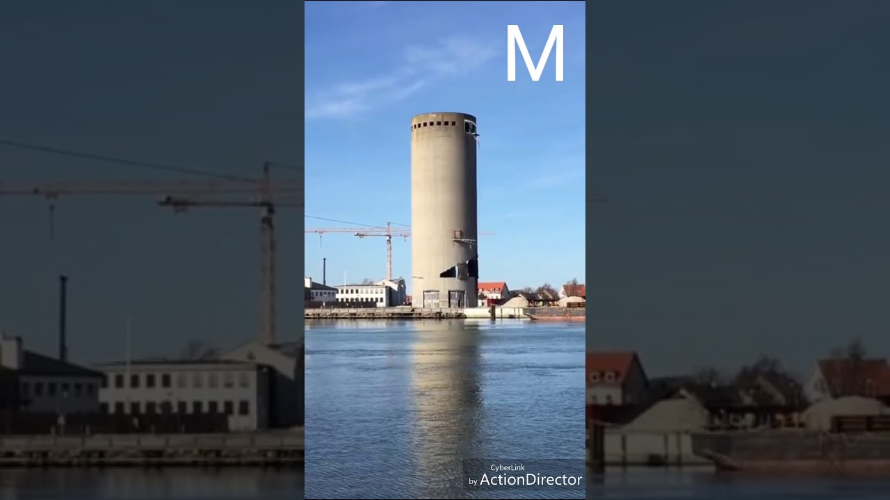 بالفيديو هدم مبنى فى الدنمارك يتسبب فى كارثة