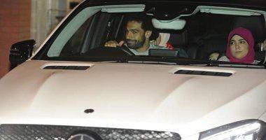 """محمد صلاح يغادر ملعب """"آنفيلد"""" بعد مشاركته فى مباراة ليفربول وروما الإيطالى التى أقيمت مساء أمس"""