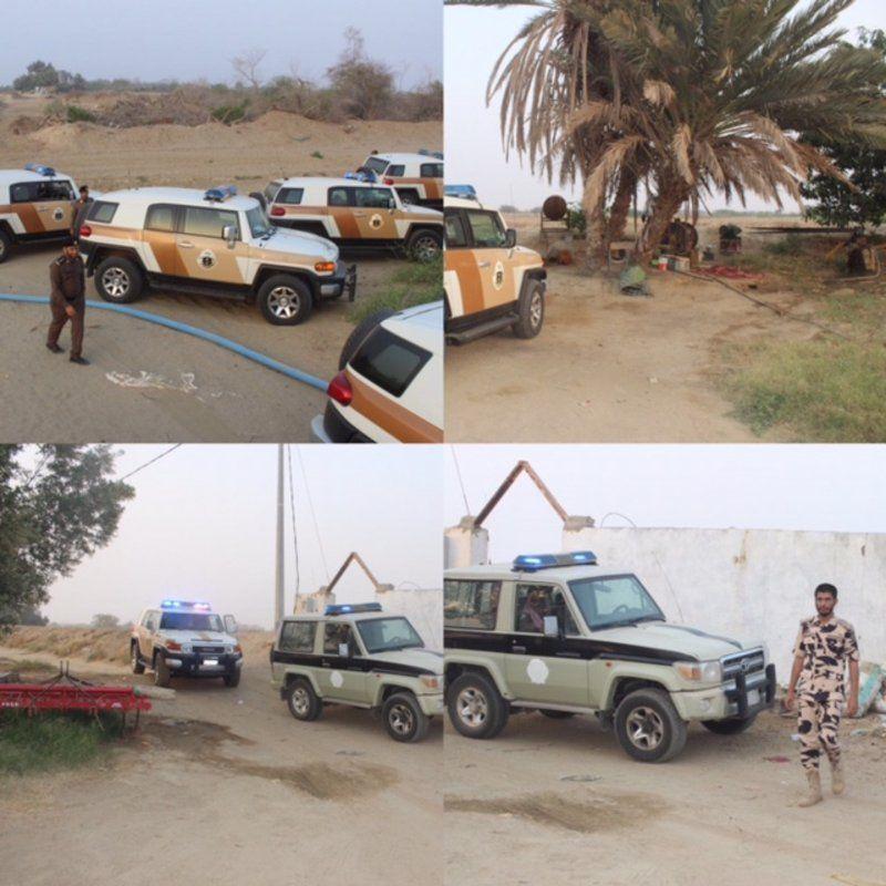 شرطة القنفذة تنفذ حملة أمنية بوادي الأحسبة وبلدة المظيلف بمساندة إدارة المجاهدين