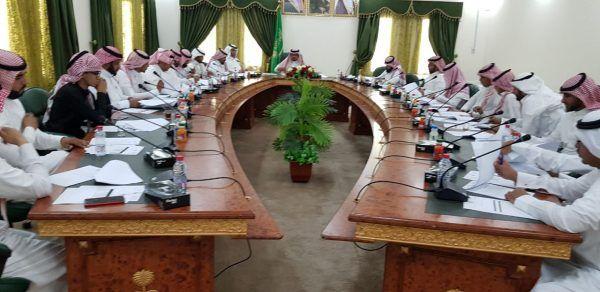خالد بن عبد الله العبيلان يترأس اجتماع المركز الإعلامي بالمحافظة