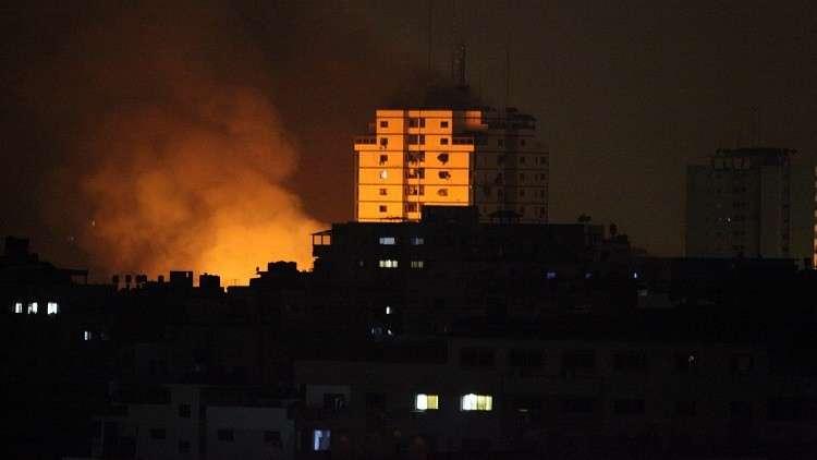 الطيران الإسرائيلى يغير على شمال غزة