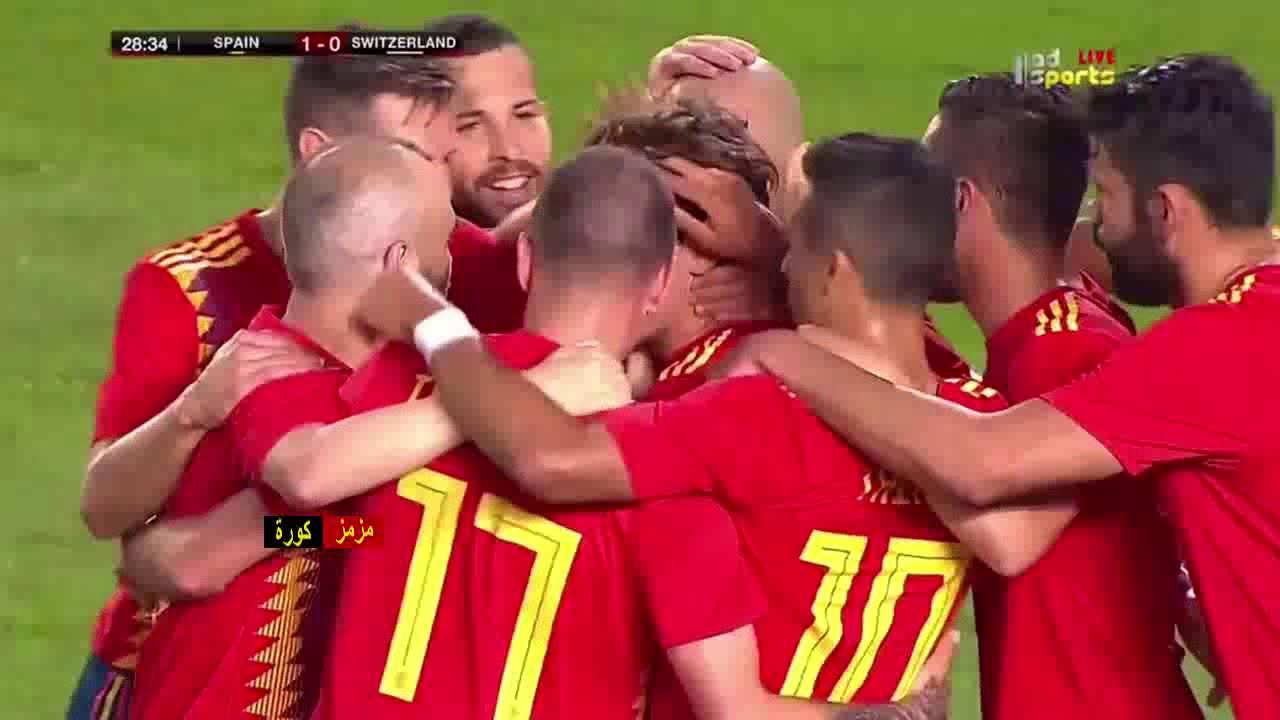 أسبانيا تتعادل مع سويسرا 1-1 ضمن إستعدادات كأس العالم…. شاهد