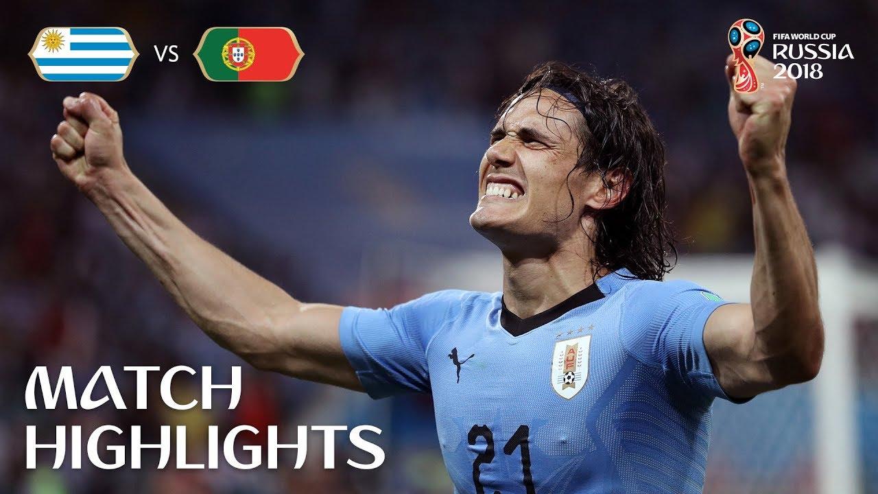 شاهد أهداف فوز أورجواى على البرتغال 2-1 فى دور الـــ 16 فى روسيا 2018