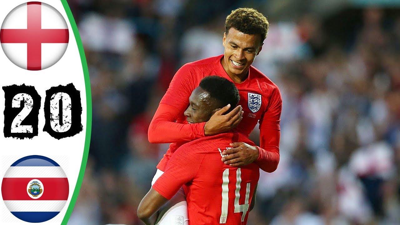 بالفيديو شاهد أهم لقطات فوز إنجلترا على كوستاريكا ضمن وديات كأس العالم