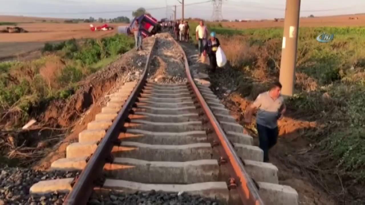 شاهد كارثة قطار فى تركيا تودى بحياة 24 شخصا وعشرات المصابين