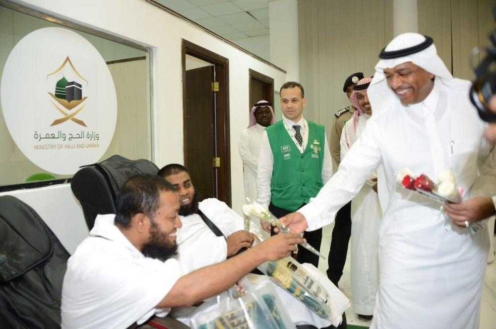 الدكتور عبد الفتاح بن سليمان يتفقد مركزي استقبال الحجاج