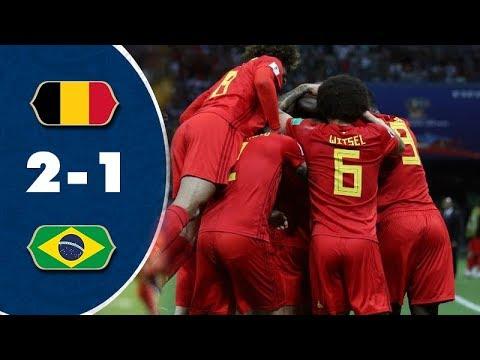 شاهد أهم لقطات فوز بلجيكا على البرازيل وصعودها لقبل نهائى روسيا 2018