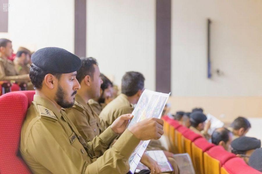 جمعية الكشافة العربية السعودية تدرب منسوبي الأسلحة والمتفجرات على قراءة خرائط المشاعر المقدسة