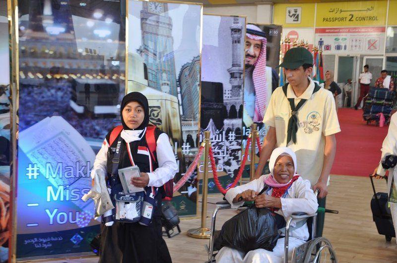 """كشافة """"تعليم جدة"""" تختتم برنامجها التطوعي لخدمة ضيوف الرحمن في صالات الحج والعمرة بمطار الملك عبدالعزيز الدولي بجدة"""