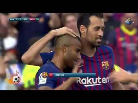 بالفيديو شاهد أهم لقطات مباراة برشلونة وبوكا جونيور