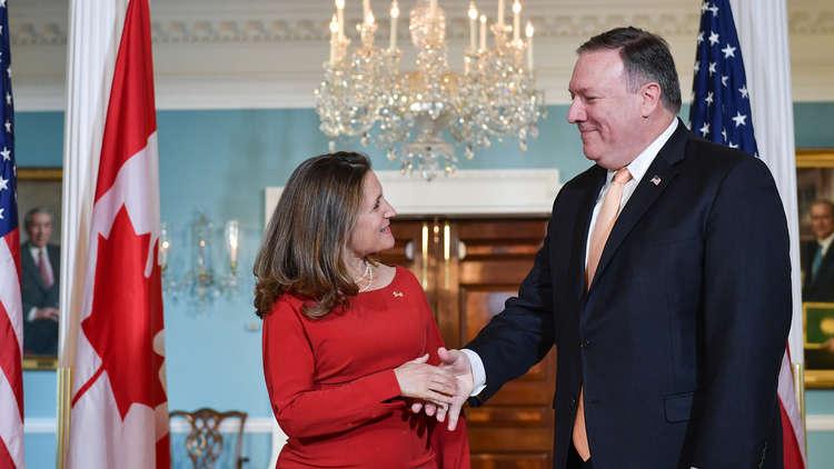 وزير الخارجية الأمريكي يجرى اتصالا هاتفيا مع نظيرته الكندية
