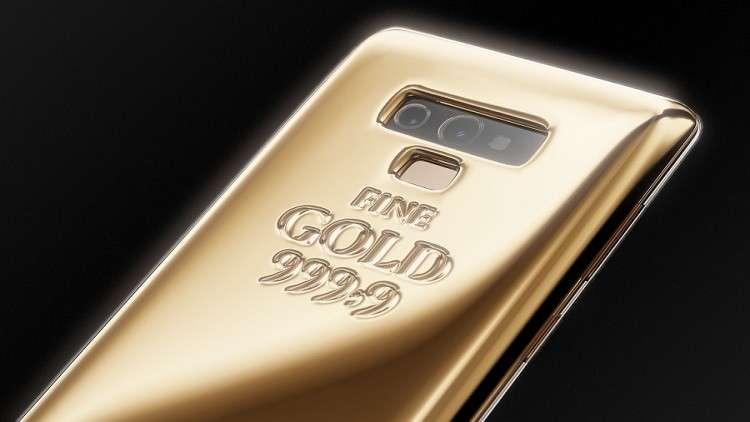 """هيكل هاتف """"سامسونغ غالاكسي نوت 9"""" على شكل سبيكة ذهبية وزنها كيلو جرام…. صور"""