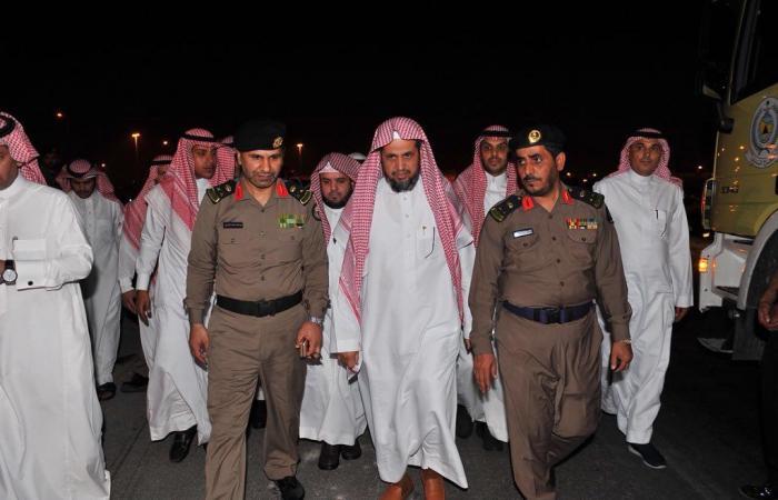 الشيخ سعود بن عبدالله يقف على الأضرار الناجمة عن حريق فرع النيابة بالدمام