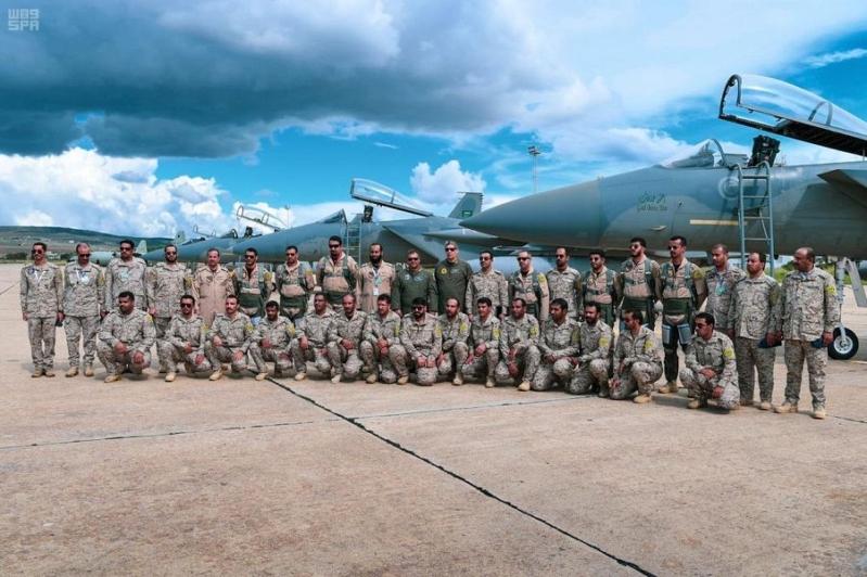 طائرات القوات الجوية الملكية السعودية المشاركة فى المناوارت مع الجانب التونسى تصل بسلامة الله لدولة تونس