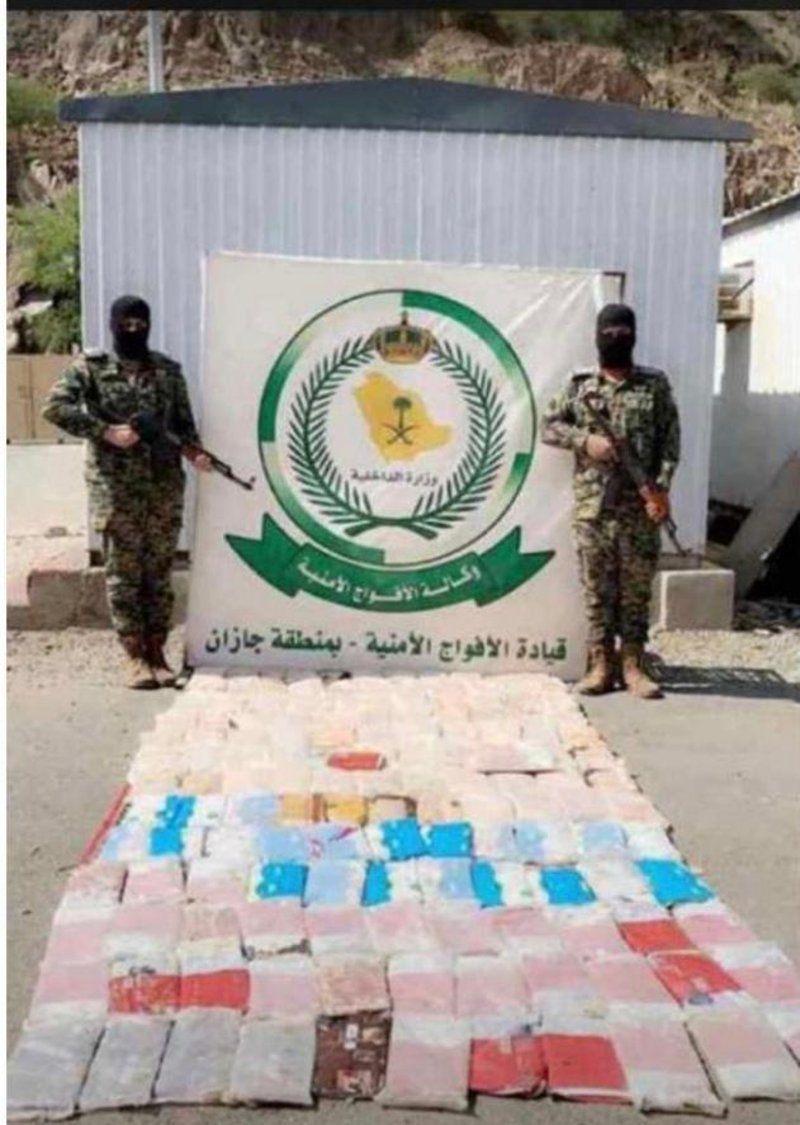 قوات الأفواج الأمنية بمحافظة الداير بمنطقة جازان تحبط تهريب 330 طن حشيش