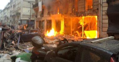 مصادر بالشرطة الفرنسية تعلن سبب الانفجار هو تسرب غاز فى مخبز وسط باريس