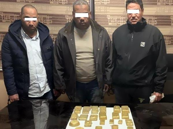 شرطة أول مدينة نصر تتمكن من ضبط أشخاص بحوزتهم 22 سبيكة ذهب