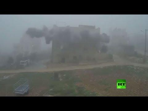 بالفيديو جيش الإحتلال يفجر منزل أسرة أسير فلسطينى