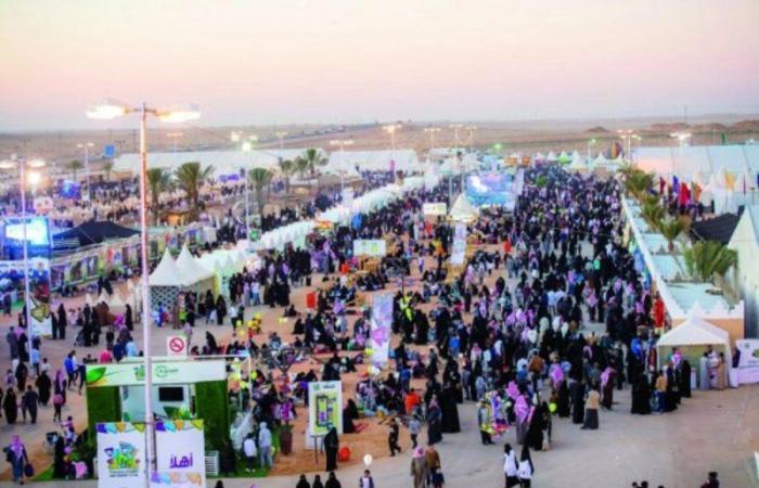 مهرجان ربيع بريدة 40 يشهد حضور آلاف الزوار من منطقة القصيم وخارجها