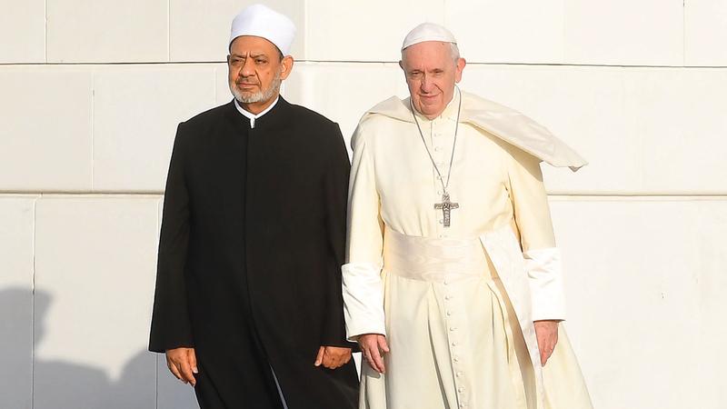 زيارة الطيب وبابا الكنيسة الكاثوليكية جامع الشيخ زايد الكبير