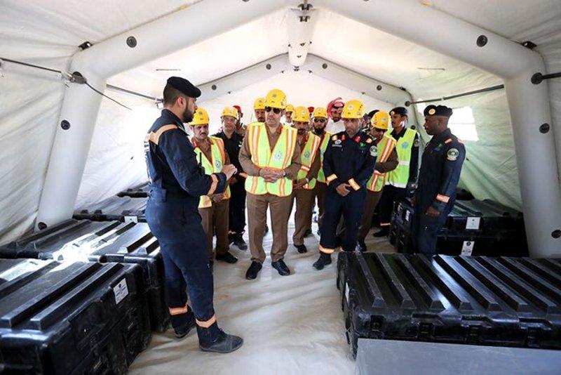 """فريق البحث والإنقاذ السعودي """"SASART"""" ينفّذ فرضية تحاكي وقوع كارثة زلزال بإحدى الدول"""