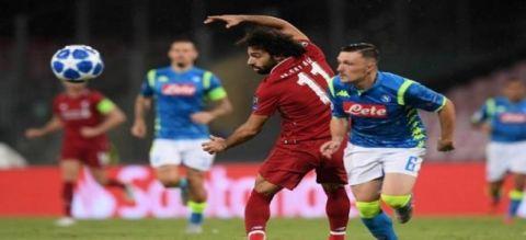ليفربول ضد نابولي في الجولة الأخيرة من دور المجموعات فى دورى الأبطال الأوروبى