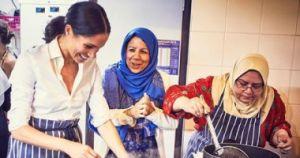 """بالصور ميجان ماركل فى مركز """"المنار للتراث الثقافى الإسلامى"""" لدعم النساء"""