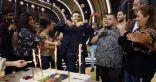 احتفال أسرة برنامج الزمن الجميل بعيد ميلاد صابر الرباعى