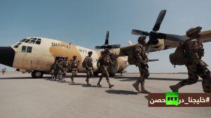 بالفيديو شاهد وصول القوات المصرية المشاركة فى درع الخليج