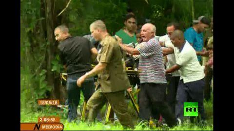 بالفيديو شاهد اللقطات الأولى لتحطم طائرة الركاب الكوبية