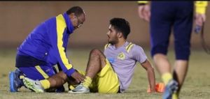 راكان الشملان لاعب النصر يصيب بالرباط الصليبي للمرة الثانية