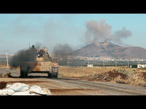 مشاهد لتحرير الجيش السوري تل الحارة جنوبي سوريا