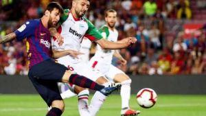 برشلونة يكسر رقم اسبانيول التاريخى فى الدوري الإسباني