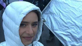 الفنانة المصرية نيللي كريم تواصل تصوير مسلسل إختفاء فى موسكو
