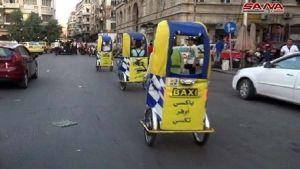 دراجة تاكسى تغزو شوارع دمشق