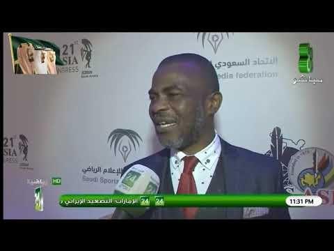 """لقاء السيد """"ميتشل اوبي"""" رئيس الإتحاد الافريقي للصحافة الرياضية"""