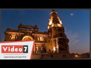 بالفيديو شاهد أعمال الترميم بقصر البارون