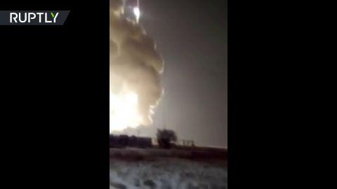 صاروخ روسى ينفجر ذاتيا بسبب عطل مفاجىء