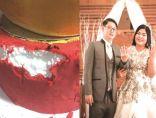 بسبب كعكة الزفاف العروسان يقضيان ليلتهم في القسم