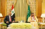 الملك سلمان بن عبدالعزيز يعقد جلسة مباحثات مع رئيس العراق